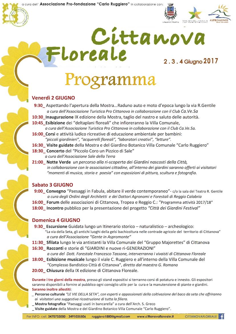 Cittanova floreale programma