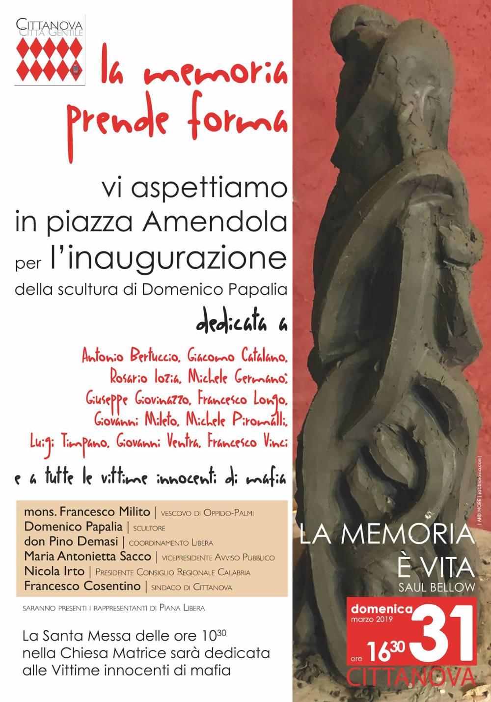 Cittanova monumento vittime mafia
